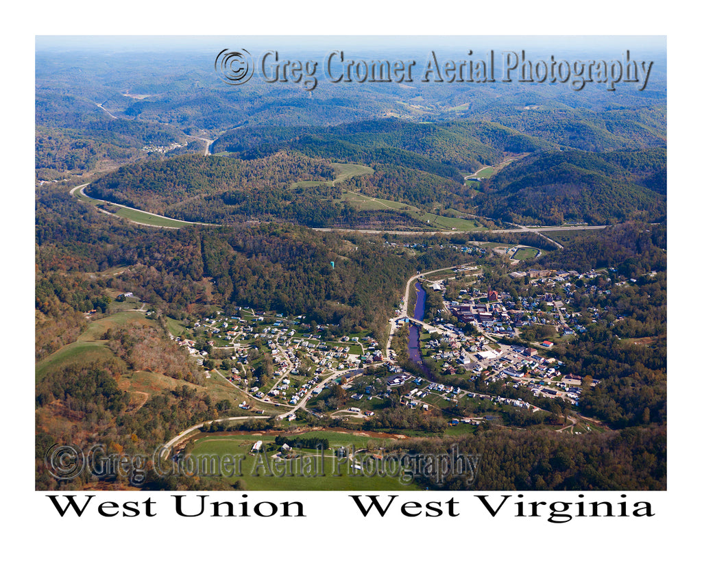 Aerial Photo of West Union, West Virginia