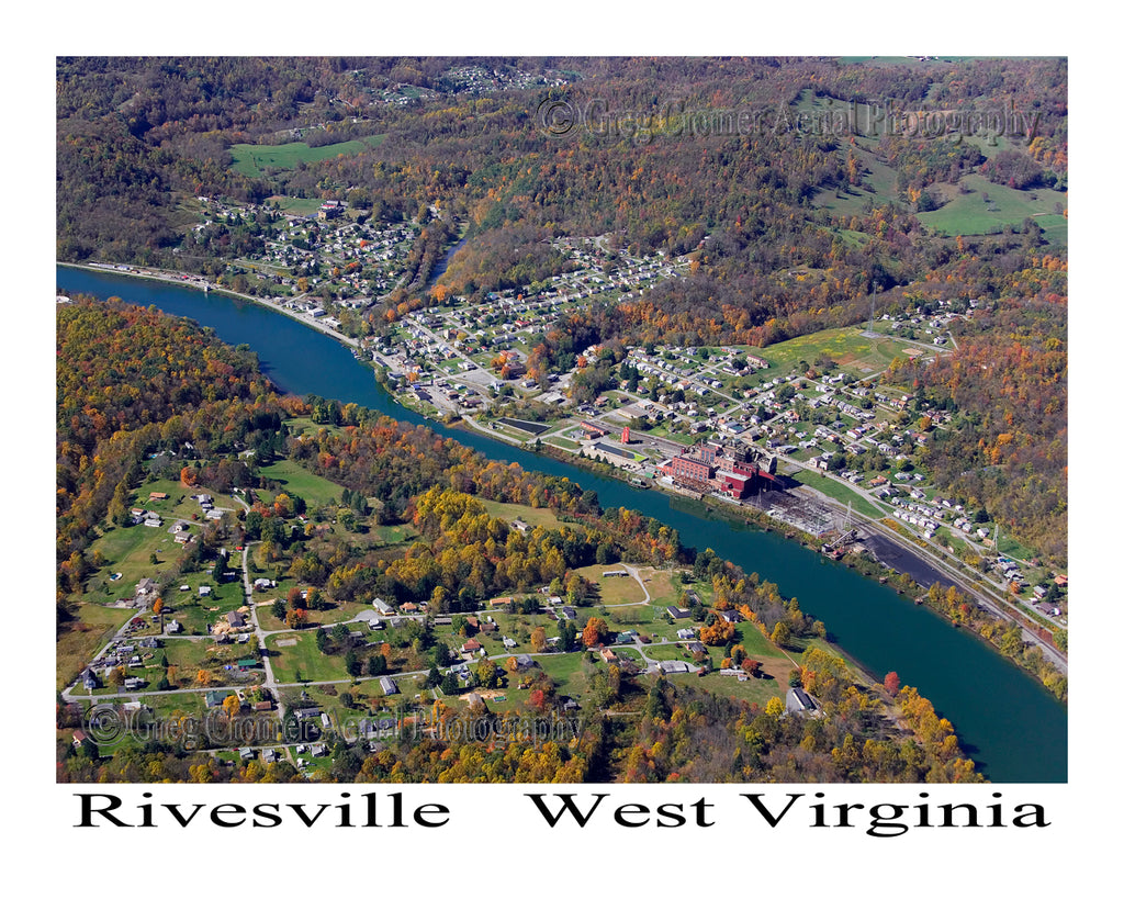 Aerial Photo of Rivesville, West Virginia