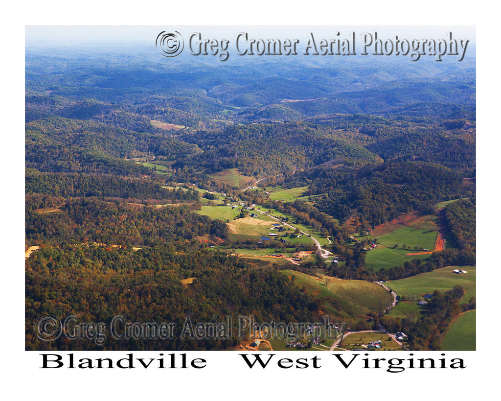 Aerial Photo of Blandville, West Virginia