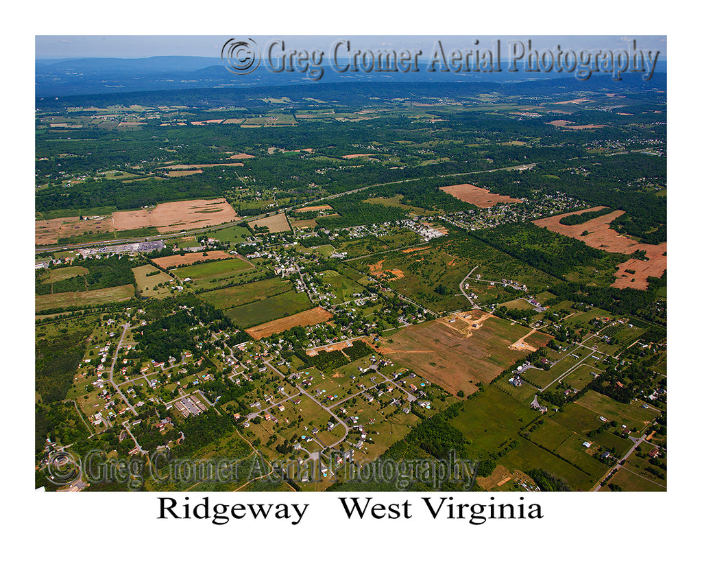 Aerial Photo of Ridgeway, West Virginia