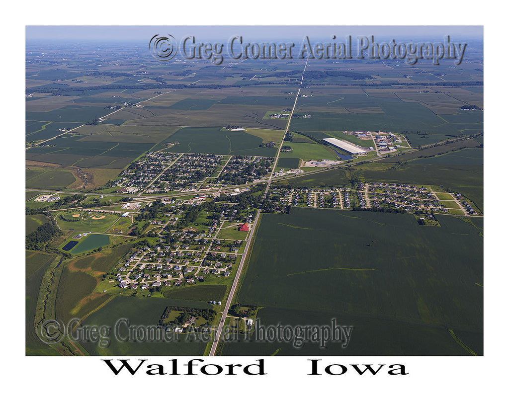 Aerial Photo of Walford Iowa