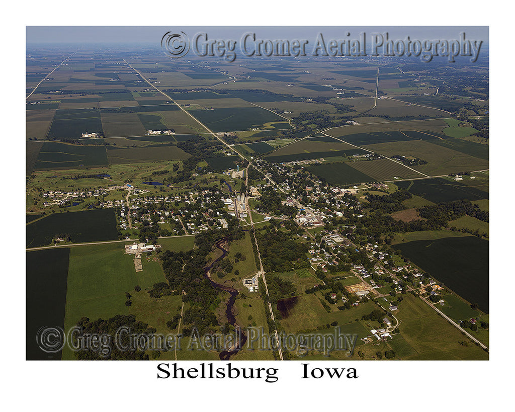 Aerial Photo of Shellsburg Iowa