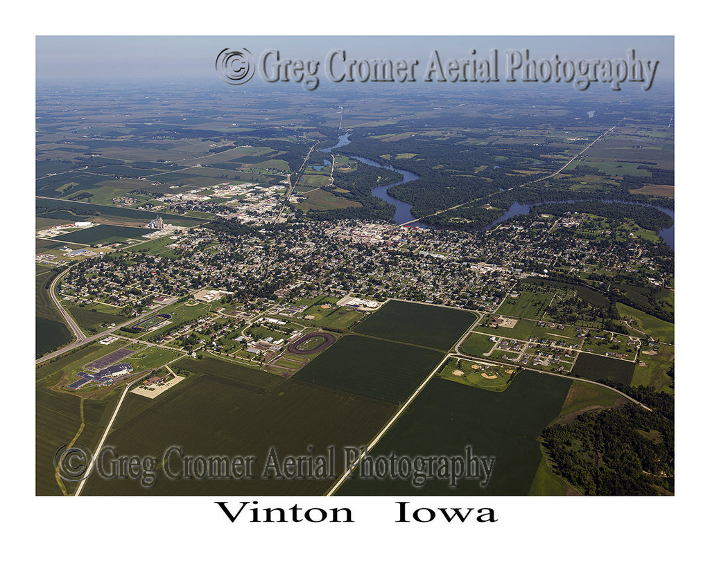 Aerial Photo of Vinton Iowa
