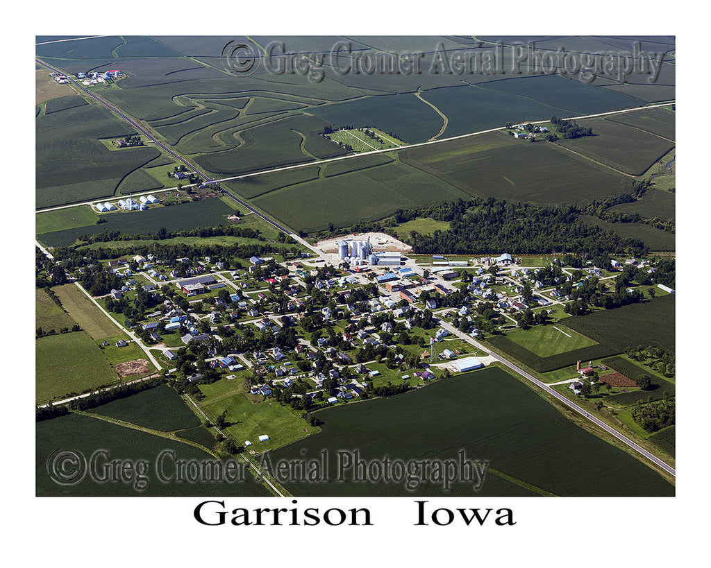 Aerial Photo of Garrison Iowa