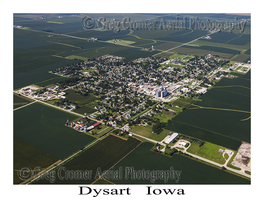 Aerial Photo of Dysart Iowa