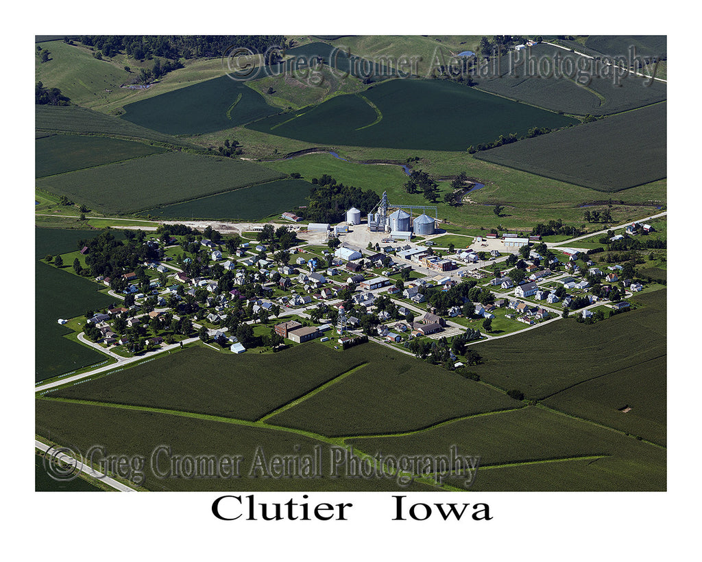 Aerial Photo of Clutier, Iowa