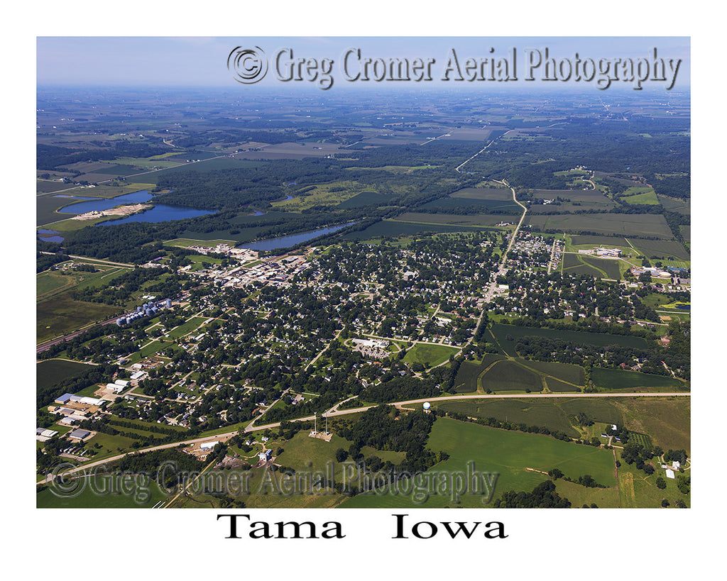 Aerial Photo of Tama Iowa