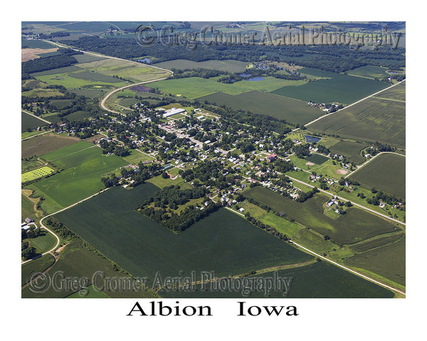 Aerial Photo of Albion Iowa