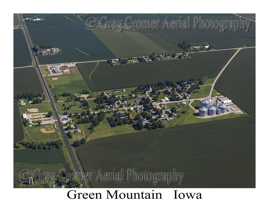 Aerial Photo of Green Mountain Iowa