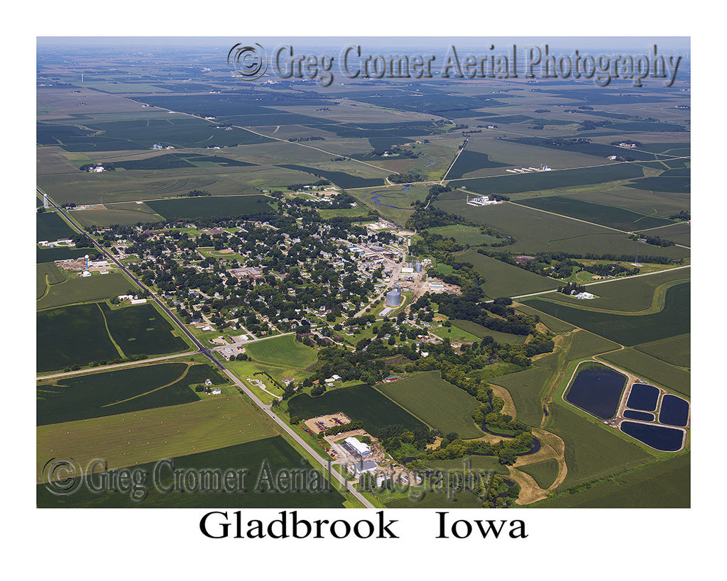 Aerial Photo of Gladbrook Iowa