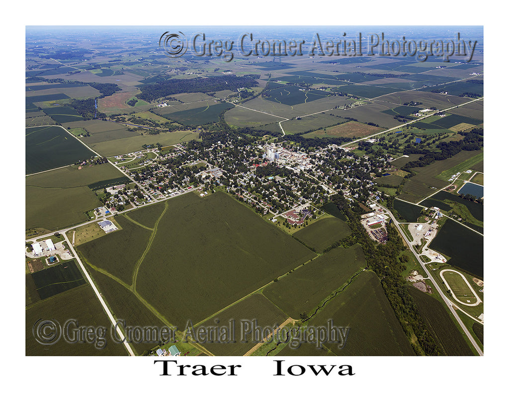 Aerial Photo of Traer Iowa