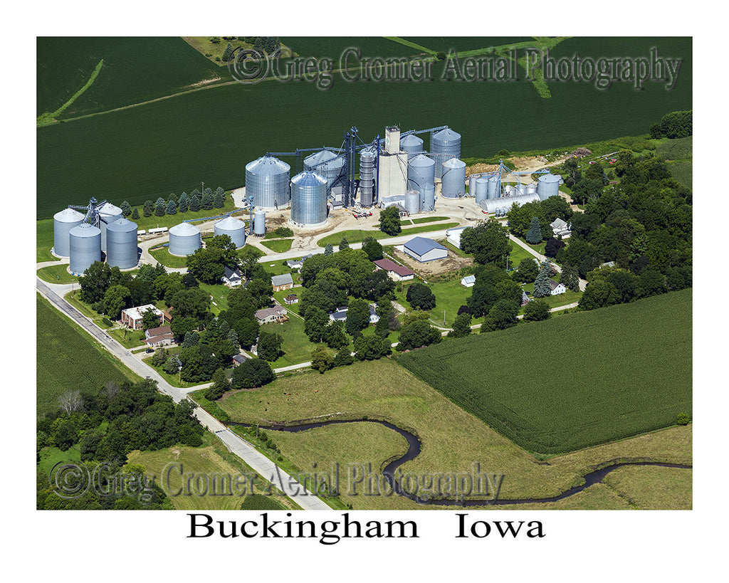 Aerial Photo of Buckingham Iowa