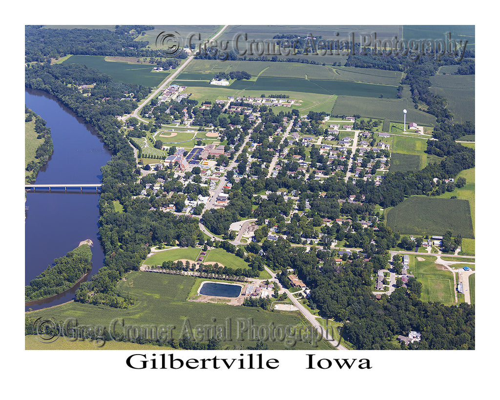 Aerial Photo of Gilbertville Iowa