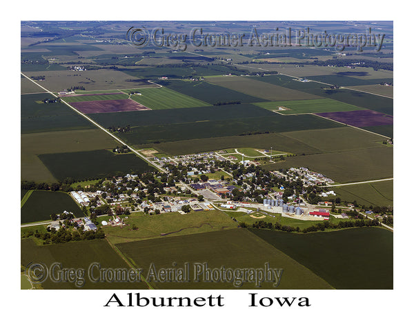 Aerial Photo of Alburnett Iowa