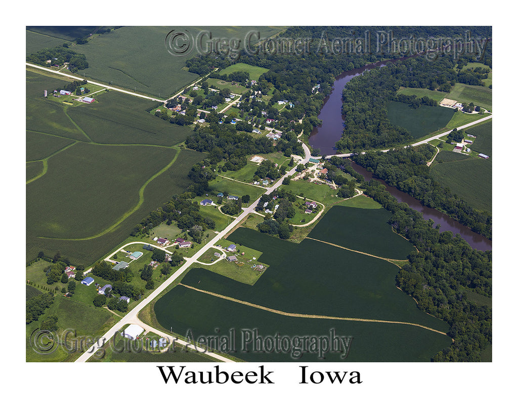 Aerial Photo of Waubeek Iowa