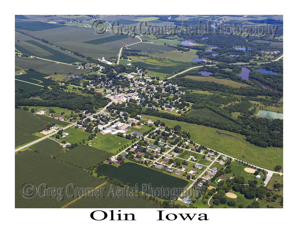 Aerial Photo of Olin Iowa