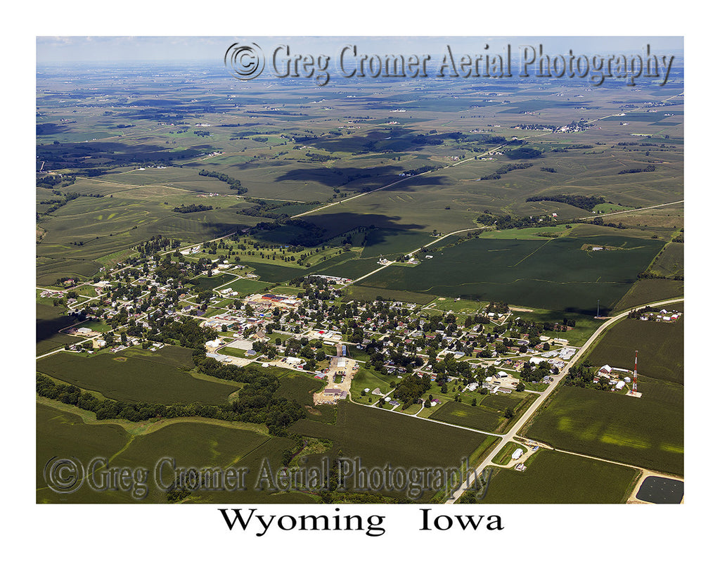 Aerial Photo of Wyoming Iowa
