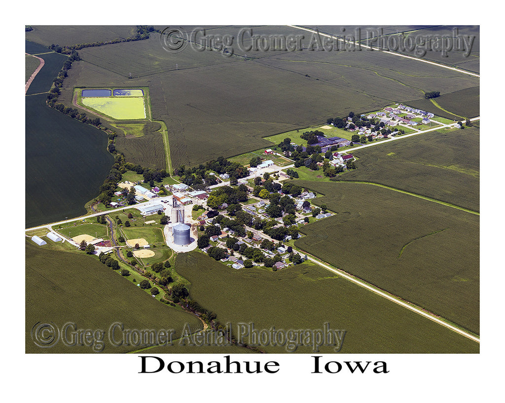Aerial Photo of Donahue Iowa