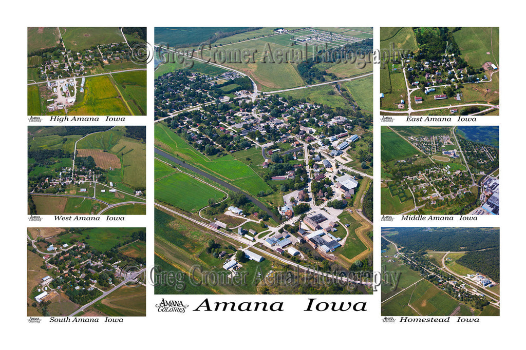 Aerial Photo of Amana Colonies, Iowa