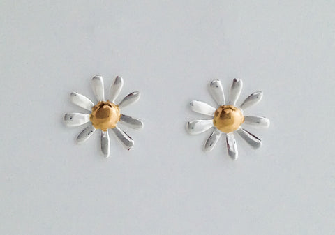Gold and silver flower earrings rotorua