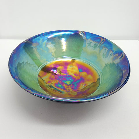 "I began making pots in the mid 70's after returning to Auckland, having spent 5 years in the U.K.and some time in Sydney.The interest in "" Handmade "" was in full swing in Australia, and New Zealand was following a similar trend. Principal Auckland outlets in those days were New Vision Gallery run by Tina Hos and Peter Sinclair's Ali Cat.  I moved to rural Otago in 1978 where I worked until 1988 when I shifted the studio to Dunedin, with a year at The Meat Market Arts Centre in Melbourne in between. The Meat"