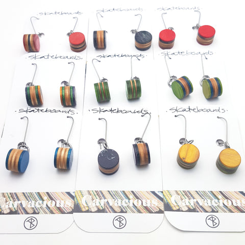 Skateboard Earrings