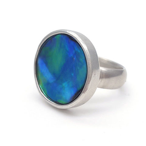 Paua shell ring