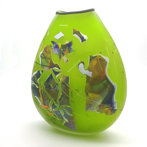 Keith Grinter glass vase