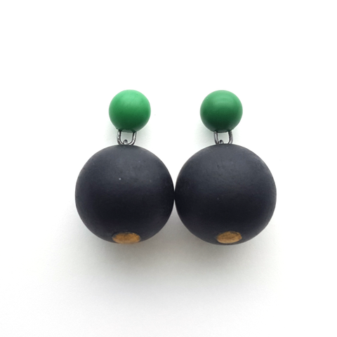 Jennifer Laracy | Green Ball Earrings
