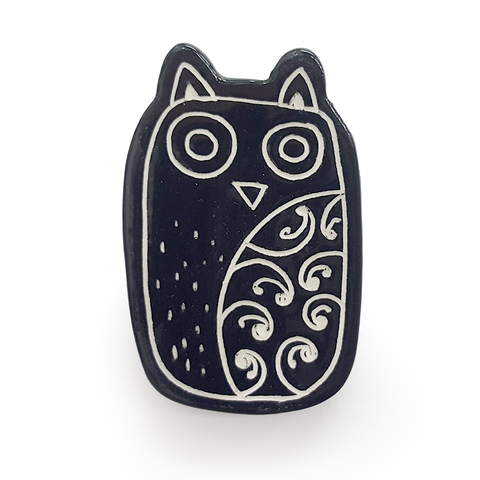 Ceramic wall Ruru - Owl