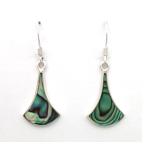 Paua and Silver Earrings