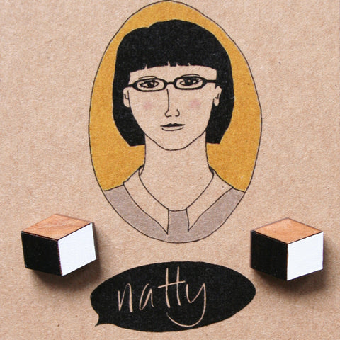 I feel natty earrings cube