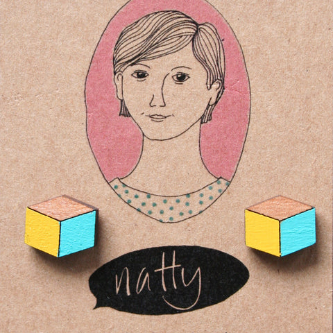cube earrings by I feel Natty