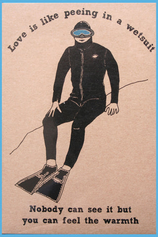 wetsuit love greeting card