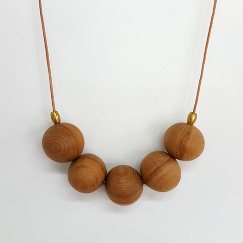 Rimu bead necklace