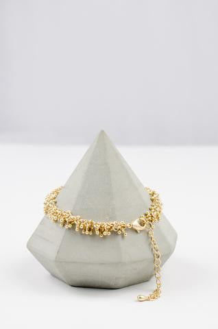 Gold Grape Bracelet by Danielle Jewellery
