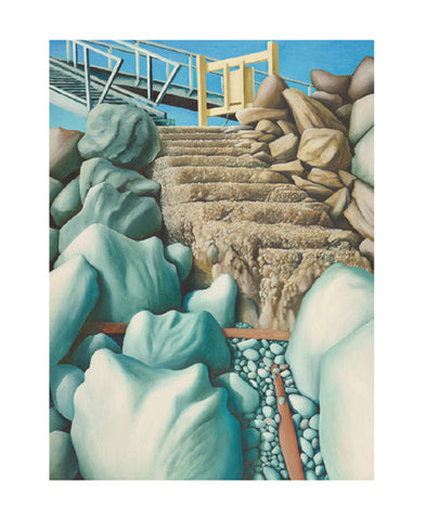 Michael Smither - Railway Station Bridge and Old Step