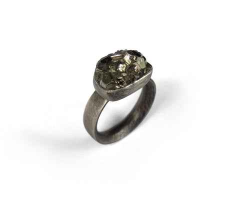 Julie Trlin Ring Pyrite