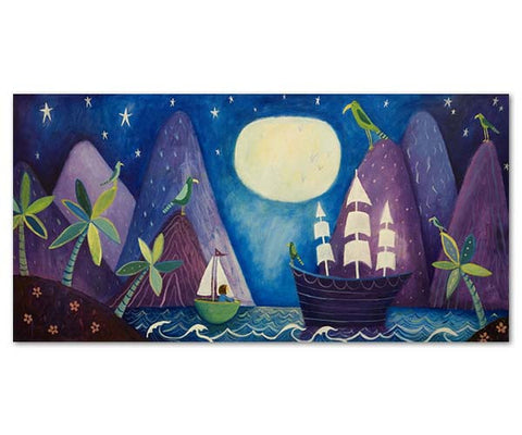 Moonlight In Milford Fine art print