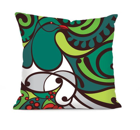 kereru wood pigeon cushion