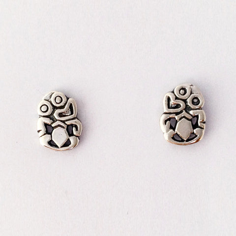 Silver Tiki stud Earrings
