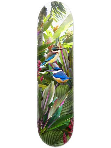 Lucy G Tropical NZ Kingfisher - Skate Deck