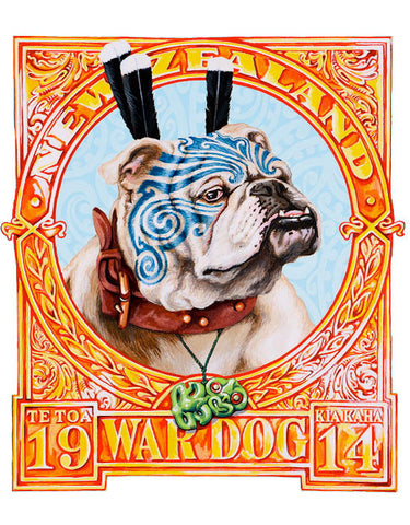 War Dog Print by Lester Hall