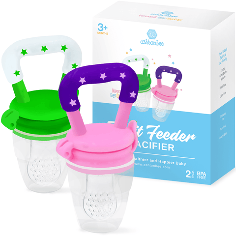 From fresh fruit to frozen breast milk, the Ashtonbee Baby Fruit Feeder Pacifier is a gift your baby will love.