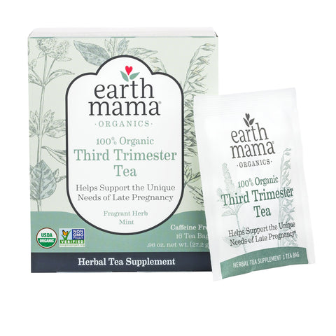 Kiss cramps goodbye with the Third Trimester Tea from Earth Mama