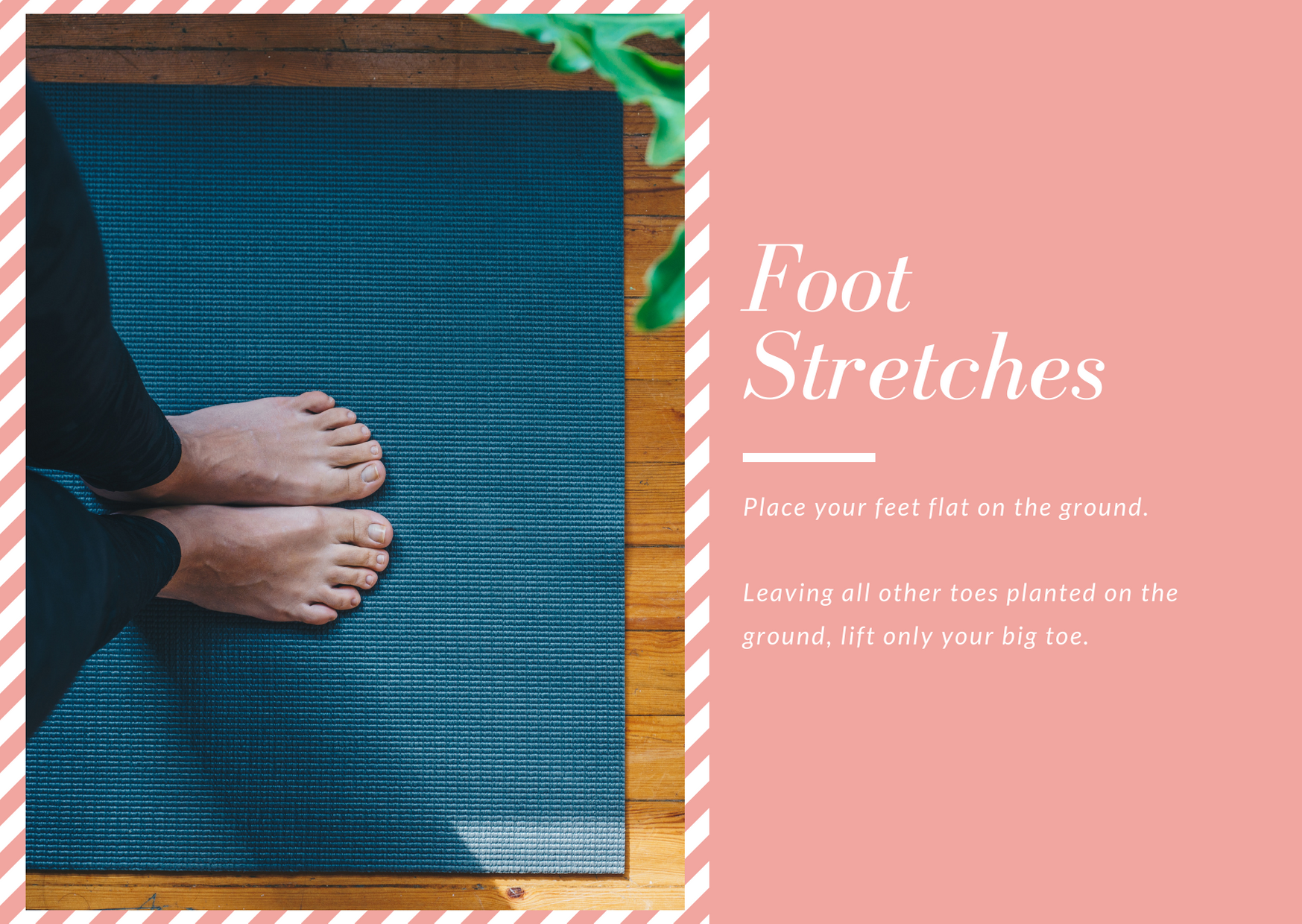 Exercises to help with postpartum foot pain.