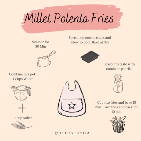 Millet Polenta Fries for Babies from BeauGen