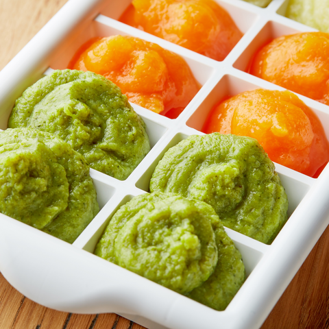 Making your own baby foods and freezing them