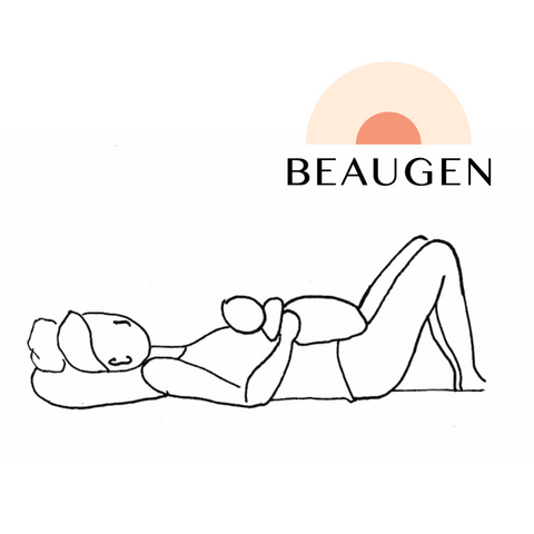 Reclined or Laidback Breastfeeding Hold or Position from BeauGen