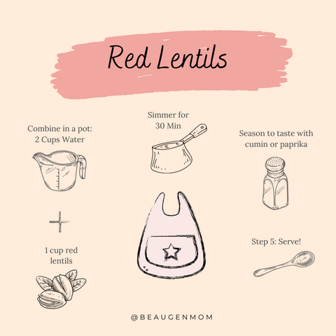 Red Lentils Recipe for Babies from BeauGen